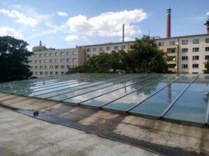 Mytí prosklených přístřešků autobusové nádraží Náchod
